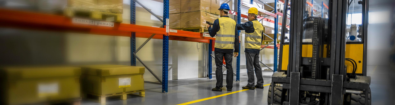 warehouse stock shelves